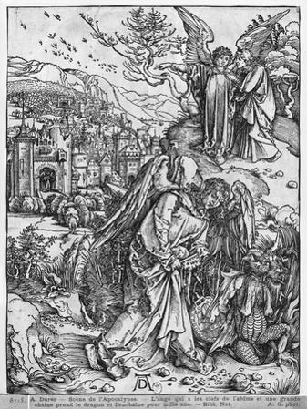 The Apocalypse, the Angel Holding the Keys of the Abyss and a Big Chain, Latin Edition, 1511
