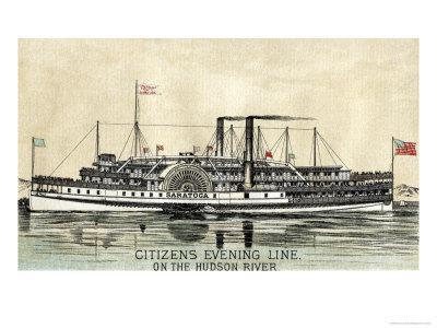 Advertisement For the Citizen's Evening Line on the Hudson River, 1882