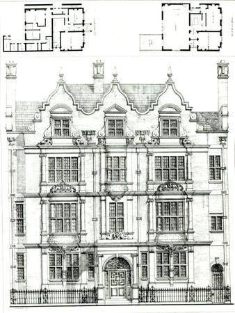 No.70 Ennismore Gardens, South Kensington, from The Building News, 23rd July 1886