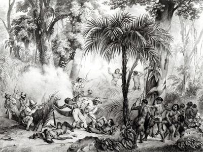 Guerillas, Engraved by Victor Adam