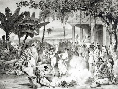 Landu Dance, Engraved by Victor Adam and Monthellier