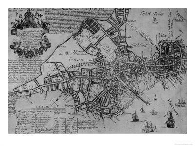 Plan of Boston, New England, 1739