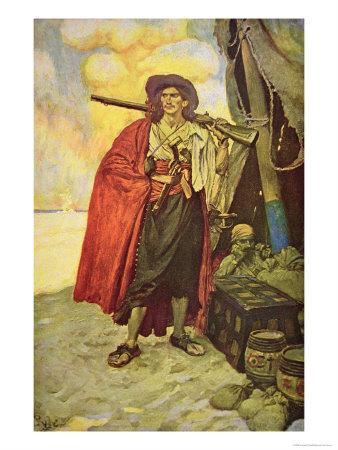 Buccaneer of Hispaniola in the Caribbean