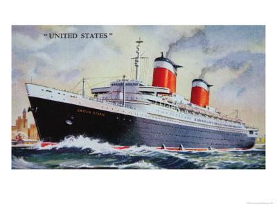 Ss United States Maiden Voyage in 1952
