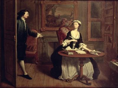 Mr. B. Finds Pamela Writing, Illustration from Richardson's Pamela