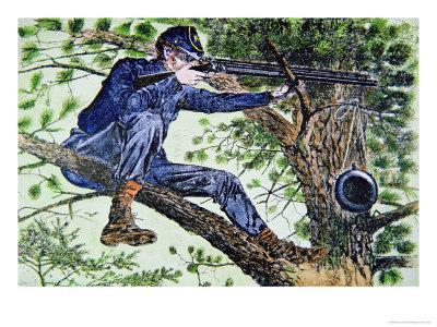 Union Army Sharpshooter Using Telescopic Sights