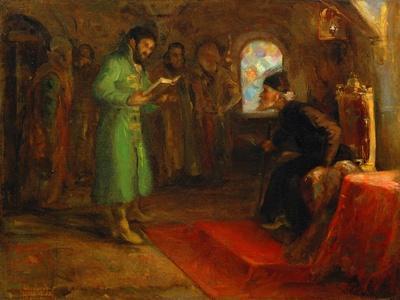 Boris Godunov with Ivan the Terrible