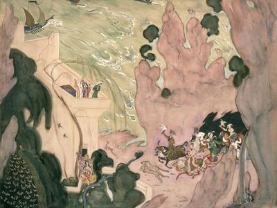 Curtain Design For Nikolai Rimski-Korsakov's Ballet 'sheherezade', 1910