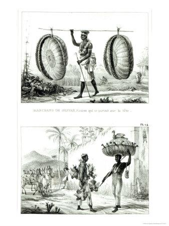 Head Baskets and a Poultry Seller, from Voyage Pittoresque et Historique Au Bresil