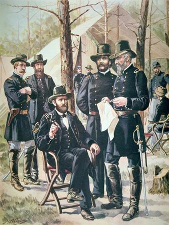 General Ulysses Simpson Grant, Commander of the Union Forces at the Battle of Shiloh, 1862