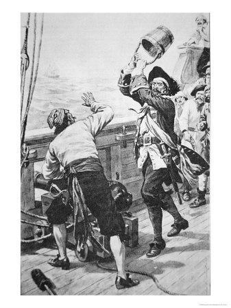 Captain Kidd Kills William Moore with a Bucket