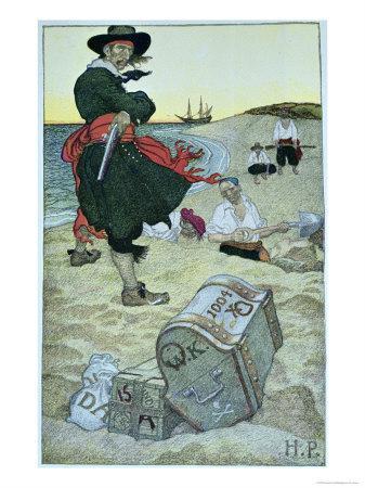 Pirate William Kidd Burying Treasure on Oak Island
