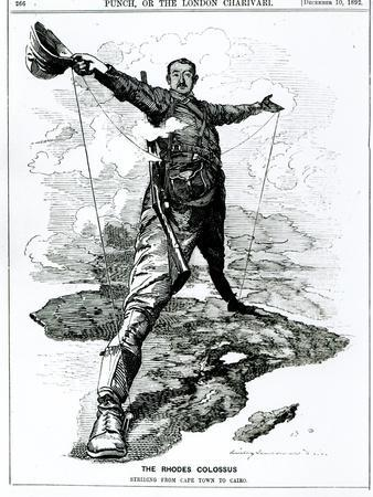 The Rhodes Colossus, from Punch, 10th December 1892