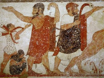 Two Men, from the Tomb of the Augurs, c.530-520 BC