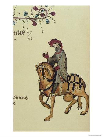 The Knight, Facsimile Detail from The Canterbury Tales, by Geoffrey Chaucer