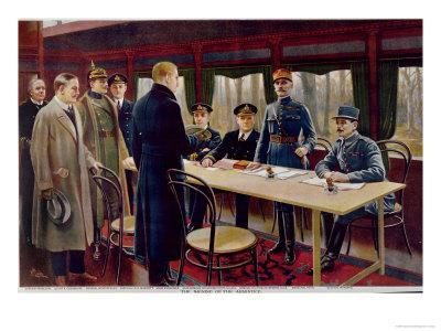 The Signing of the Armistice on 11th November 1918 at 5 A.M., 1918