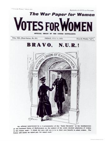 Bravo, N.U.R!, Front Cover of Votes For Women, July 2nd 1915