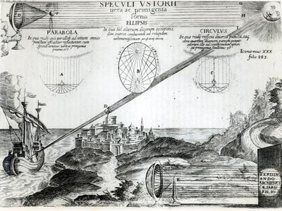 The Burning Mirror of Archimedes, from Ars Magna Lucis et Umbrae, Athanasius Kircher