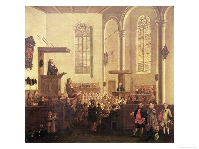 John Wesley Preaching in Old Cripplegate Church
