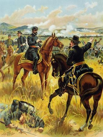 Major General George Meade at the Battle of Gettysburg on July 2nd 1863, 1900