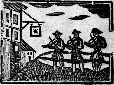 Three Fiddlers, from A Book of Roxburghe Ballads