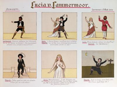 Cartoon Making Fun of the Opera Lucia Di Lammermoor by Donizetti