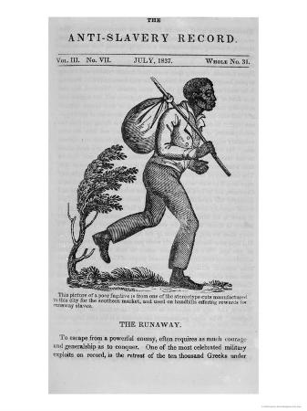 The Runaway, Page from the Anti-Slavery Record, 1837