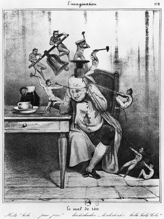 Series L'Imagination, the Headache, c.1830