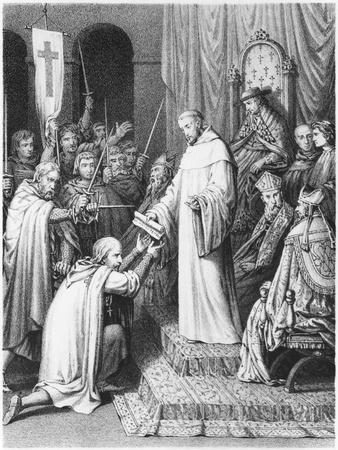 St. Bernard, Abbot of Clairvaux, Giving the Templars Their Rules