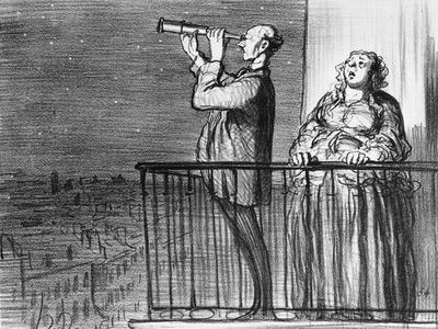 Series Actualites, the Comet, Parisiens Incredules, Plate 394, Le Charivari, 1st May 1857