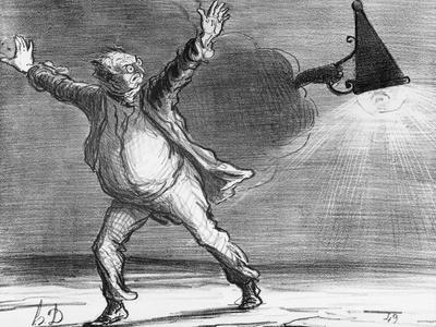 Actualites, the Comet from Monsieur Babinet Shuts Down the Sun, Le Charivari, 1857