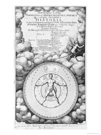 Frontispiece of Utriusque Cosmi Historia by Robert Fludd