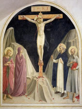 The Crucifixion, with SS Dominic and Jerome, 1442