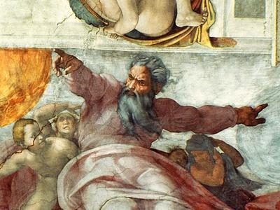 Sistine Chapel Ceiling, Creation of the Sun and Moon, 1508-12