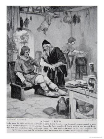 Saxon Surgery, Illustration from the Book The History of the Nation