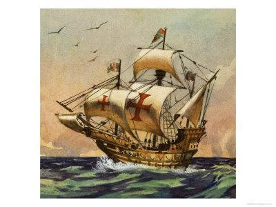 The Santa Maria Which, in 1492, Took Columbus to the New World