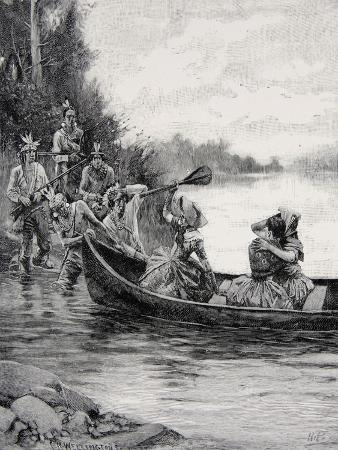 The Capture of Elizabeth and Frances Galloway, Published in Harper's Magazine, June 1887