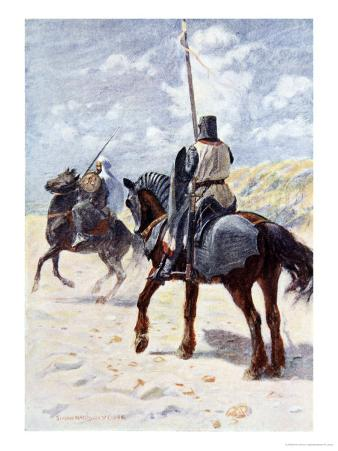 Saracen Approaches a Crusader Knight, The Talisman: A Tale of the Crusaders, Sir Walter Scott