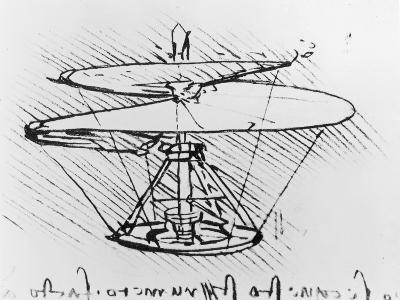 Detail of a Design For a Flying Machine, c.1488