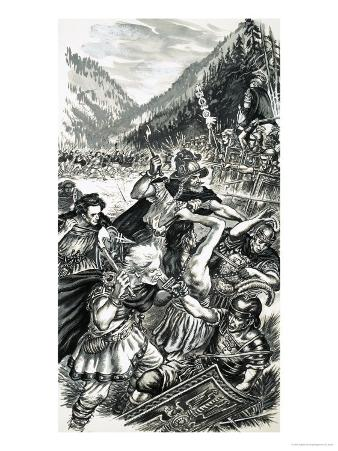 Arminius, the German Prince, Battling the Romans