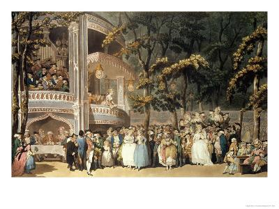 Vauxhall Gardens from Ackermann's Microcosm of London, 1809