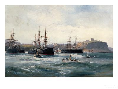 The Channel Fleet Off Scarborough, 1896