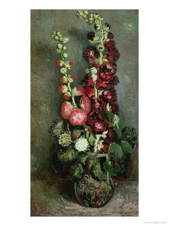 Vase of Hollyhocks, 1886