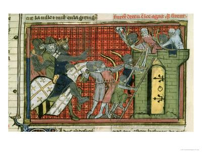 Attack on a Town, from Le Roman de Godefroi de Bouillon