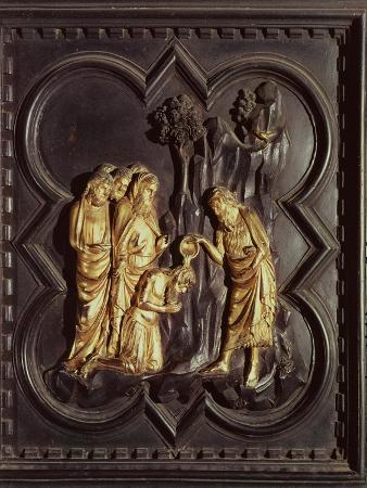 St. John the Baptist Baptising in the River Jordan, South Doors, Baptistry of San Giovanni, 1336