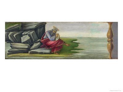 Saint John the Divine on Patmos, Writing Book of Revelations, Altarpiece of Saint Mark, c.1488-90
