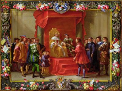 Peter IV, King of Aragon Being Visited by Guillaume-Raymond Moncada