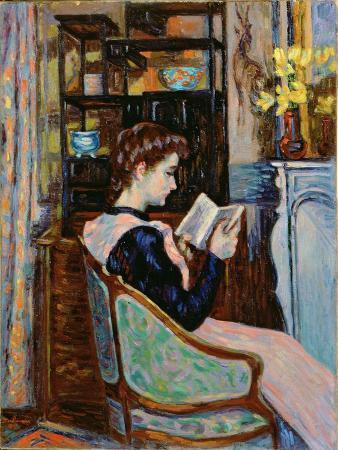 Mlle. Guillaumin Reading, 1907