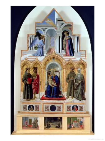 Altarpiece, Madonna and Child with Saints, Miracles of St. Anthony, St. Francis and St. Elizabeth