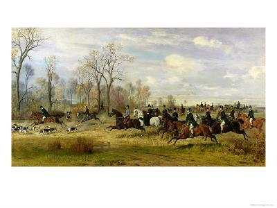 Emperor Franz Joseph I of Austria Hunting to Hounds with the Countess Larisch in Silesia, 1882